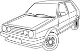 Thumbnail VW GOLF Vector