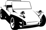 VW Buggy vector image
