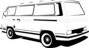 VW Camper 25 Model Vector